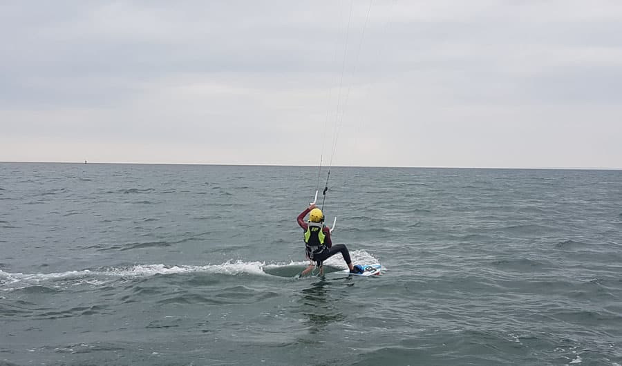 Kitesurf Waterstart et premiers bords